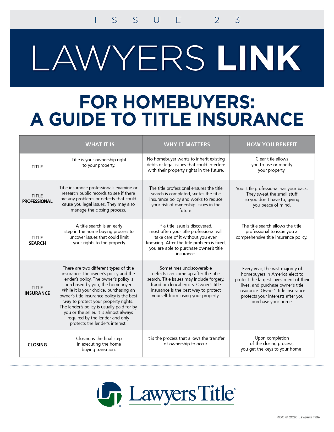 Lawyers Link Issue 23, page 1